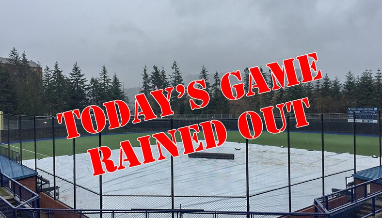 Softball's Thursday Game vs  Sonoma State Rained Out